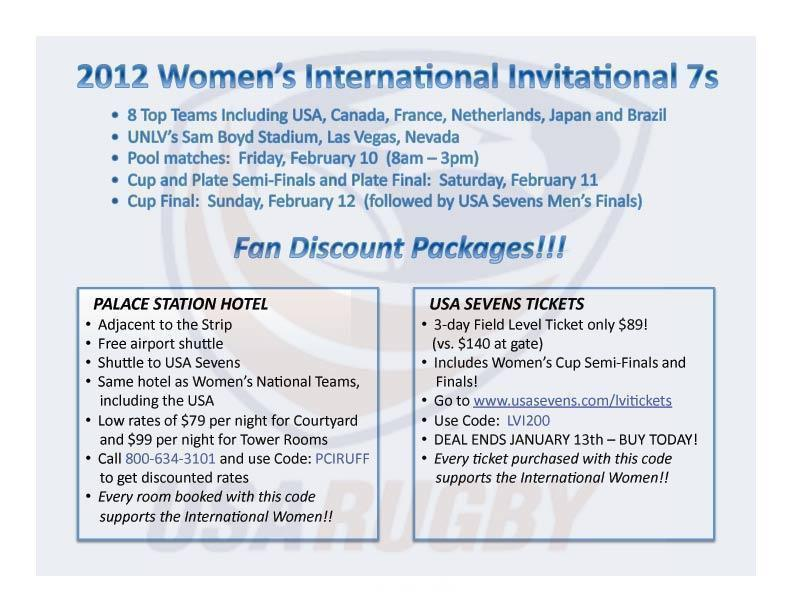 Fan Discounts for 2012 International Invitational 7s!