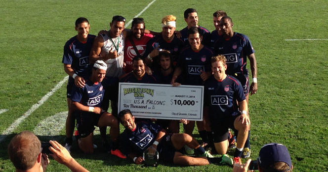 Falcons win Cup at 2014 Serevi RugbyTown Sevens