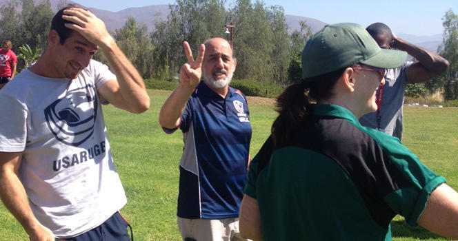Men's Eagles Sevens complete Level 1 Rugby Referee Certification Course