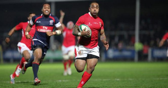 Five tries lead Tonga over Eagles in Gloucester