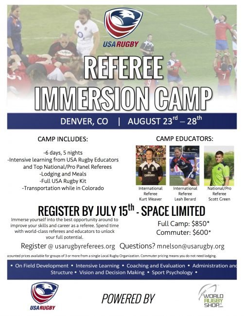 Rugby Immersion Camp - Denver, CO