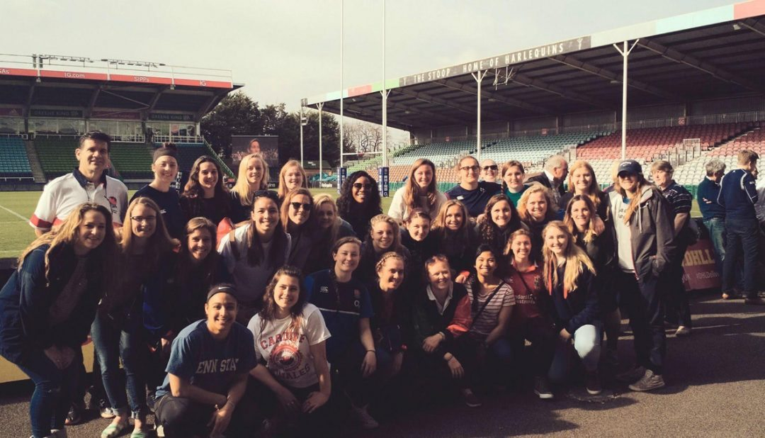 Women's college rugby's best use spring break to tour Europe