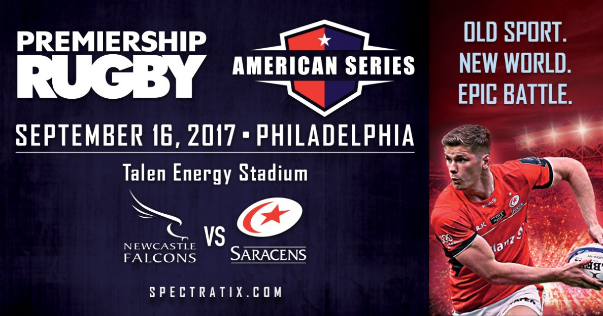 NBC Sports presents Newcastle v. Saracens Premiership Rugby clash from Philadelphia
