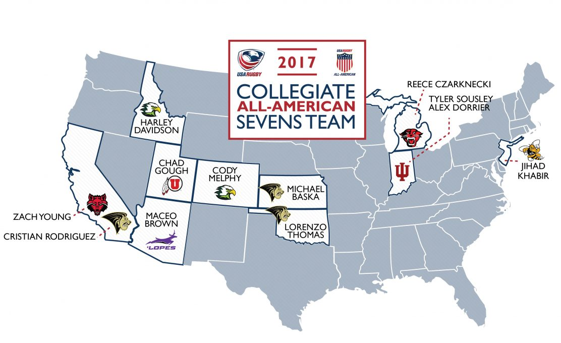 AIG Men's Collegiate All-American 7<span class='lowercase'>s</span> Team returns to RugbyTown Sevens