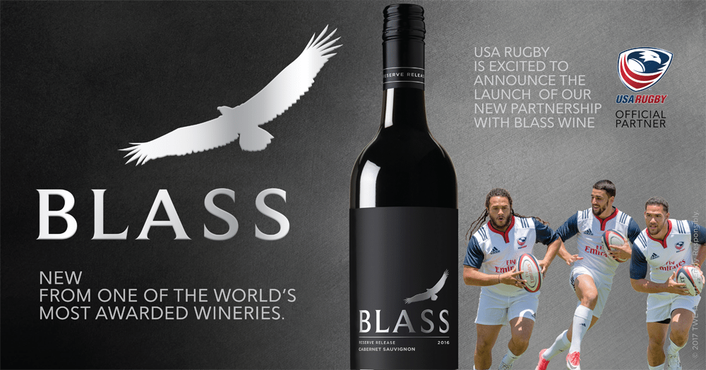 BLASS Wines to Sponsor USA Rugby and Rugby World Cup Sevens in 2018