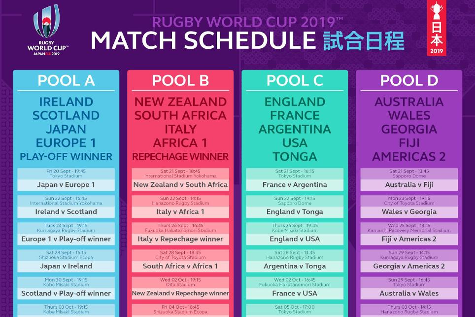 3b3b82b50cf Rugby World Cup 2019 Schedule Released | USA Rugby