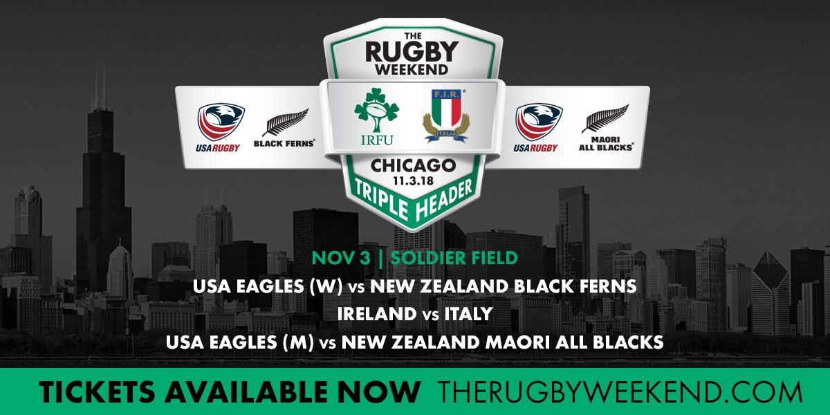 Six Nations Champions Ireland return to Chicago to take on Italy while USA Eagles meet New Zealand