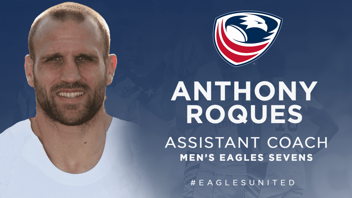 Anthony Roques selected as Assistant Coach for Men's Eagles Sevens