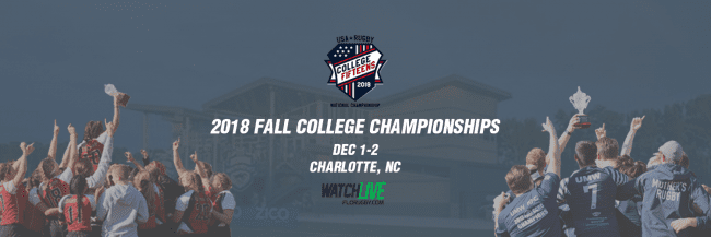 2018 College Fall and National Championship Brackets Announced