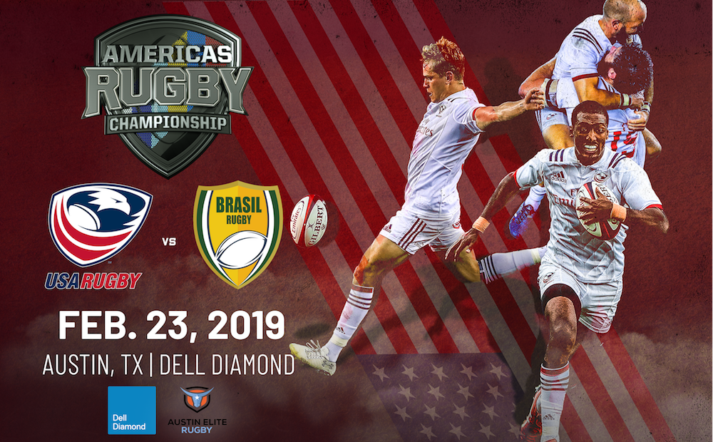 USA v Brazil match relocated to Austin for the 2019 Americas Rugby Championship