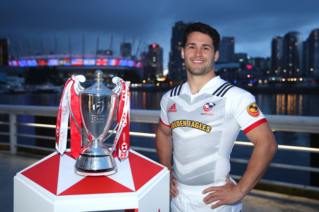 Golden Eagles sponsor front of jersey for Men's Eagles Sevens in Vancouver