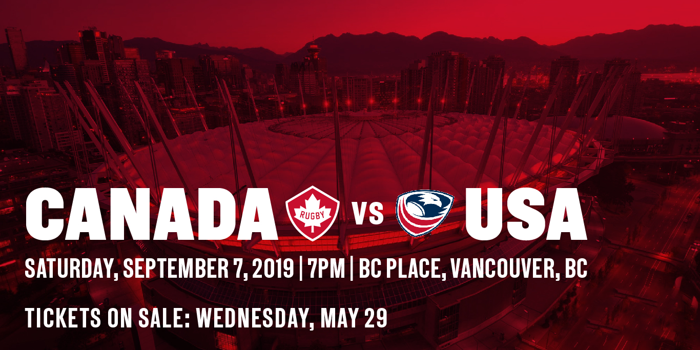 U.S. Men's National Team 15s to face rival-Canada in Vancouver as final test match before Rugby World Cup Japan 2019