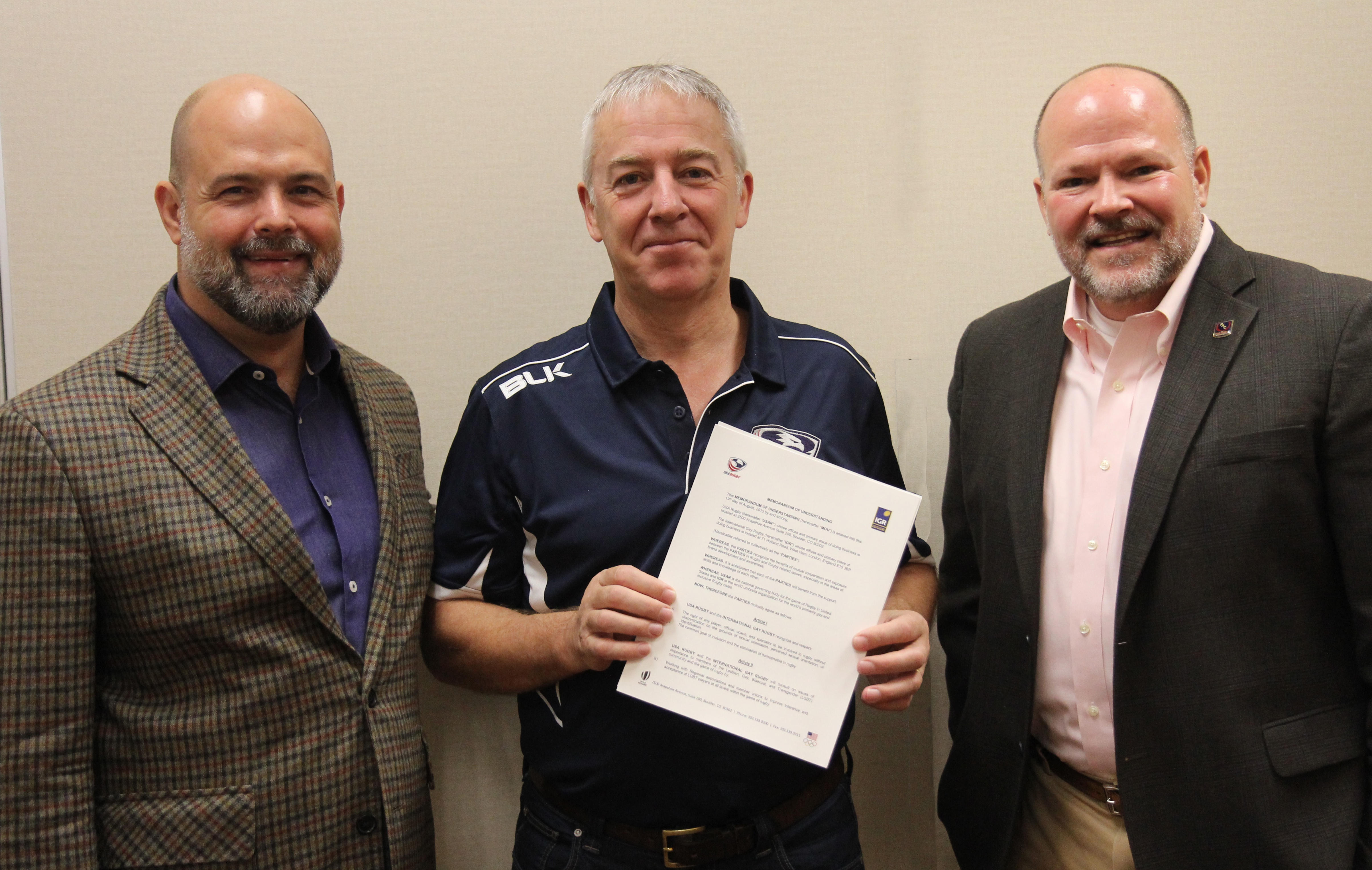 USA Rugby and International Gay Rugby sign Memorandum of Understanding to eliminate homophobia in Rugby