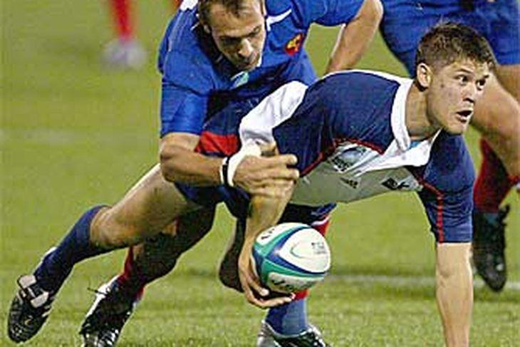 John Buchholz in a match against France in the 2003 Rugby World Cup.