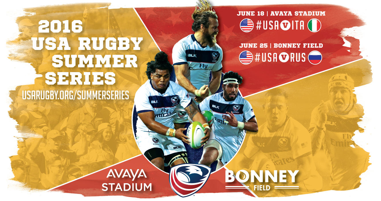 International Rugby returns to Northern California for USA v Italy, USA v Russia