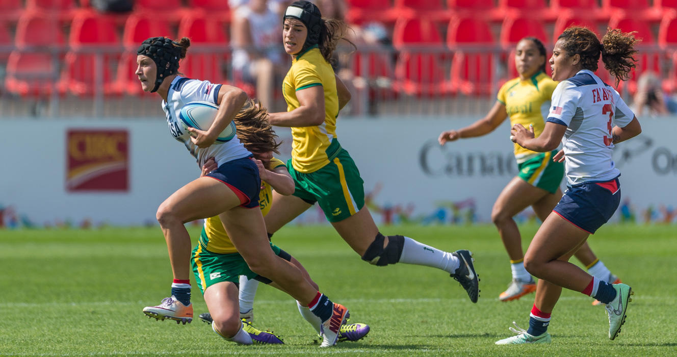 Women's Eagles Sevens undefeated through three matches at Toronto 2015
